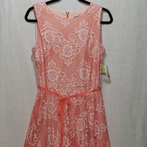 *NEW* Coral Lace Dress Size 12